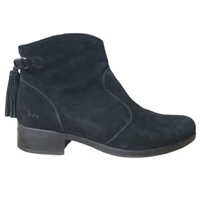 B.O.C Leather Upper Black Ankle Boots